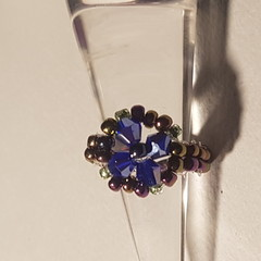 Beautiful beaded crystal and pearlised beads with beaded band
