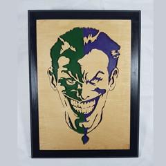 Joker #1 - Super Villains - Wooden Hanging Artwork