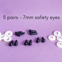 7mm safety eyes, doll making supplies, crochet amigurumi, sewing