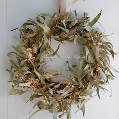 Dried flower wreath, Gumtree wreath