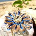 Rustic Natural Fibre Flower Gift Tag Jute Embellishment Beach Seashell Decor