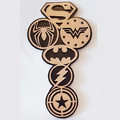 SuperHero Emblem Door Plaque