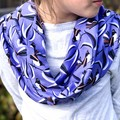 Ladies Infinity Scarf - Australian Birds - Purple