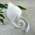 White Newborn Crochet Baby Pixie Bonnet Beanie Hat Photo Prop
