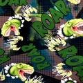 Children's Infinity Scarf - T- Rex Dinosaur