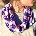 Children's Infinity Scarf - Ballerina Bunnies and Butterflies