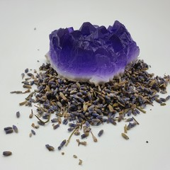Hand Made Amethyst and Lavender Soap