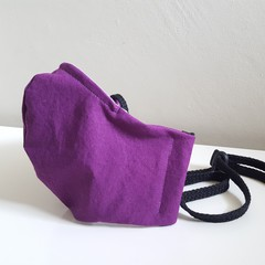 Mask with Toggle & Nose Wire - Adult Medium - Dark Purple
