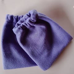 Purple fleece stirrup covers / horse gear
