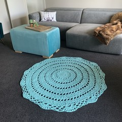 Large Mint green Crochet floor rug free post
