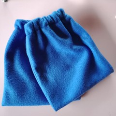 Royal blue fleece stirrup covers / horse gear
