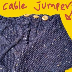 Purple Jewel Cable Jumper Size 6 - 9 months
