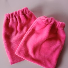 Pink fleece stirrup covers / horse gear