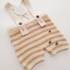 Hand-Embroidered Baby Cotton Knitted Overalls Baby Boy Newborn Gift Baby Clothes