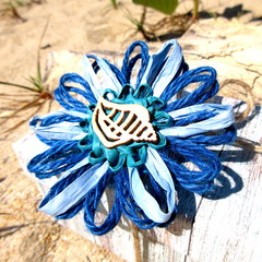 Beach-themed Natural Fibre Flower Embellishment Gift Tag Value Pack Jute