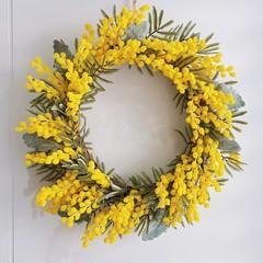 Wattle flower wreath, Australian flower wreath