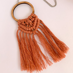 Macrame necklace terracotta