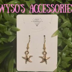Ocean Gold Hook Earrings