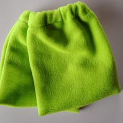 Green fleece stirrup covers / horse gear