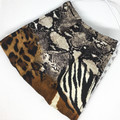 Fabric Face mask, with animal print fabric