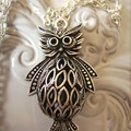 large owl pendant necklace, silver tone owls hoot hoot view store for earrings