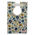 Blue + Mustard Floral Large Style Bib