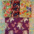 Unicorns Flamingoes 4 pack kitchen cloths