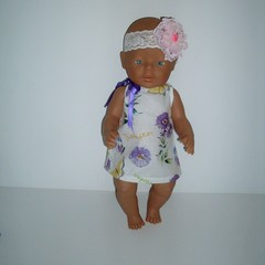 Dolls clothes for Baby Born or 38cm Miniland doll pillowcase style.
