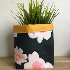 Small fabric planter | Storage basket | CAMELLIAS