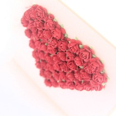 Red Roses Handmade Heart Card, Anniversary Card, Valentine Card, Husband, Wife
