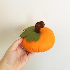 Pumpkin, felt playfood, play kitchen