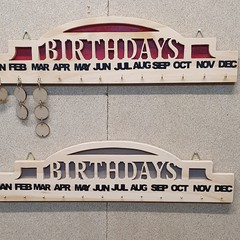 Birthday Disc Calendar