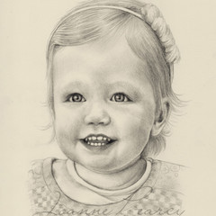 Portrait A5 BW drawing, Custom illustration from your photo, gift, family, child