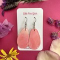 Pink Alcohol Ink and  Resin Dangle Earrings