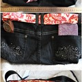 Denim Upcycled Jean Bag Handmade, Shoulder or Crossbody.