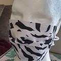 Black & White Box Pleat Mask