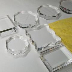 Acrylic blocks starter kit + chamois + free satpin stamps
