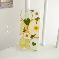 Handmade pressed fruit phone case/ Handmade dried flower phone case