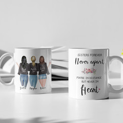 Sisters Best Friends Besties Personalised Ceramic Coffee Tea Mug Cup - CM018