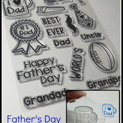 Father's Day Clear stamp set