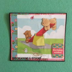 Teddy Bear Themed Card with Verse