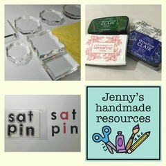 Acrylic blocks AND ink pad starter kit + chamois + Free satpin clear stamps