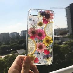 Handmade phone case/ pressed flower and pressed fruit phone case