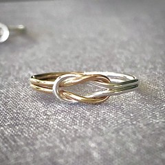 Gold and silver knot ring