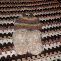 Baby Blanket+Beanie with Ears and Faux Fur Booties