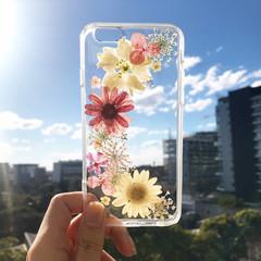 Handmade phone case/ pressed flower phone case/ pressed fruit phone case/