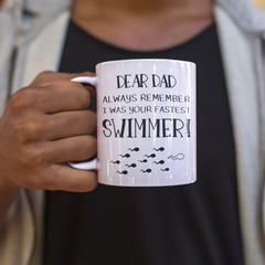 Fathers Day Dad Birthday Funny Ceramic Personalised Coffee Tea Mug - CM047