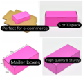 Mailing Box 240x125x75mm pink Colour Cardboard Carton (5 or 10 pack)