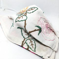 Fabric Face mask, with floral vintage fabric and embroidery