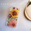 Handmade phone case/ pressed flower phone case/ Handmade iphone case
